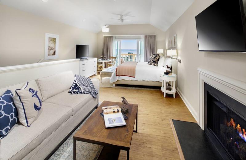 Guest room at The Sanderling Resort