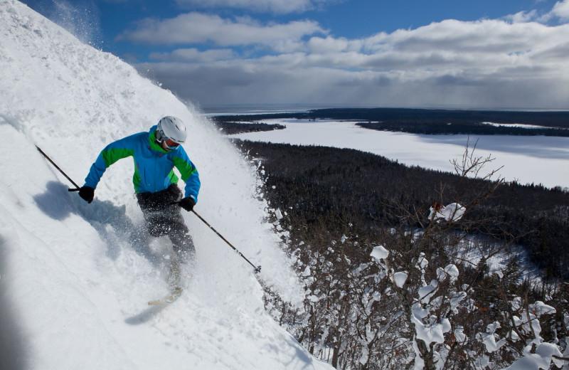 Skiing near Wilderness Resort.