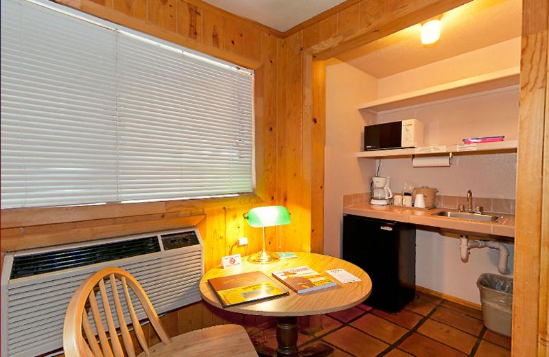 Guest room interior at Redstone Inn.