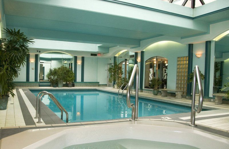 Indoor pool at Chateau Victoria Hotel & Suites.
