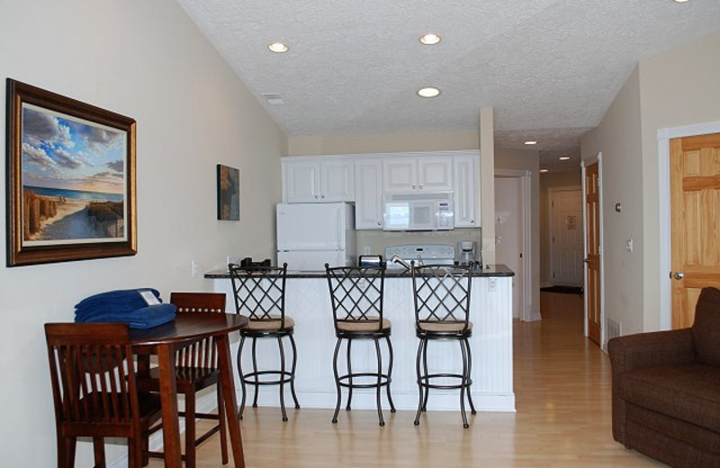 Vacation rental dining room at The Beach Condominiums Hotel-Resort.