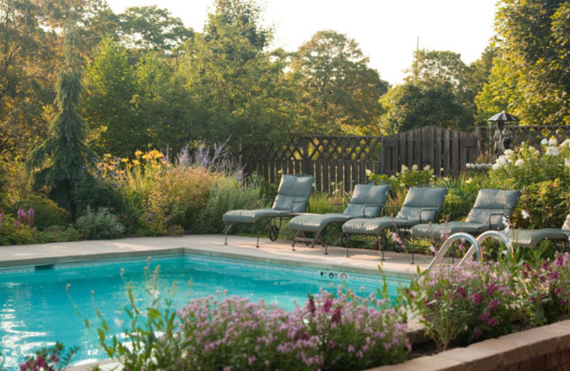 Outdoor pool at Chanticleer Guest House.