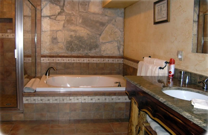 Guest bathroom at Brickner Guest House.