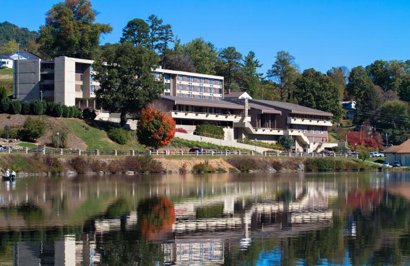 The Terrace hotel overlooks Lake Junaluska.