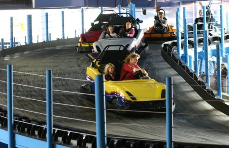 Go-Karts at Kalahari Waterpark Resort Convention Center.