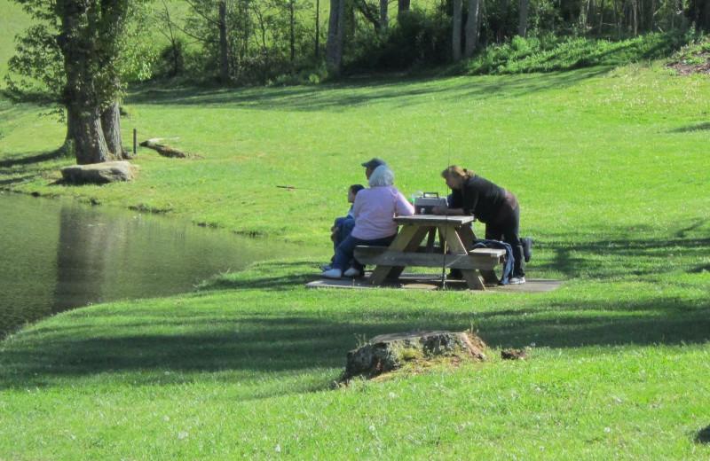 Fishing at Mill House Lodge.