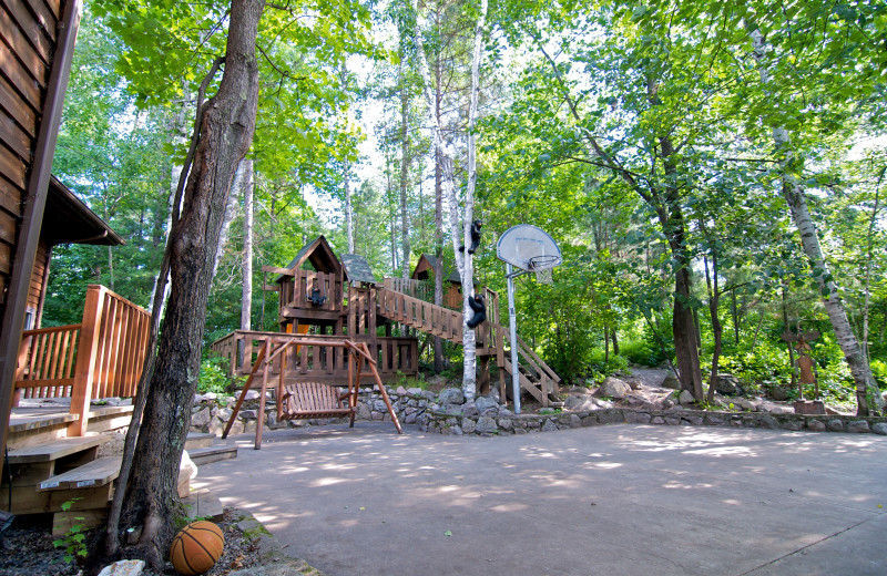 Basketball Court and Tree House