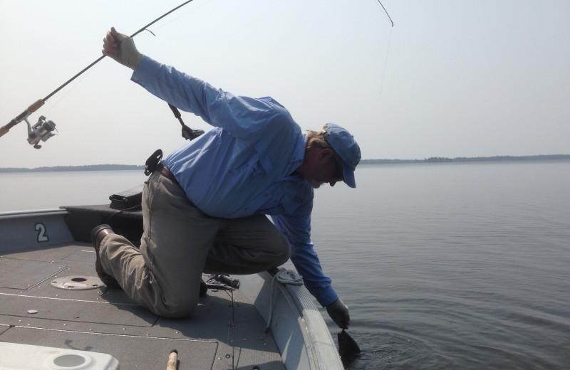 Fishing at Ballard's Black Island