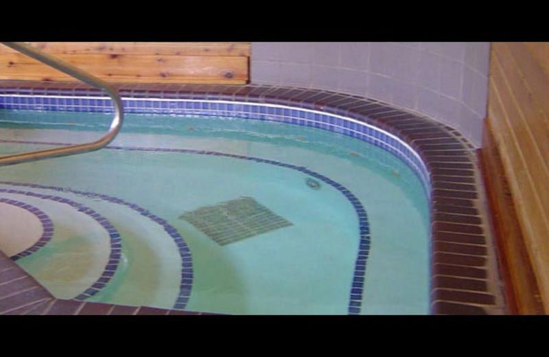 Indoor hot tub at The Mountain Inn at Lutsen.