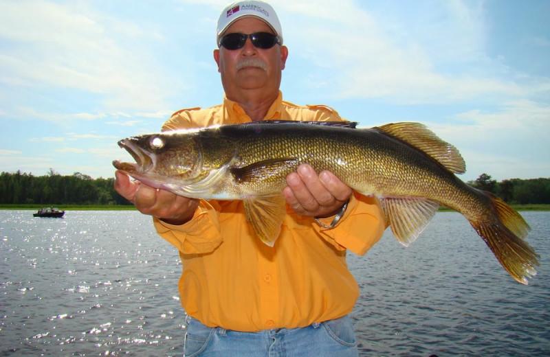 Fishing at Rainy Lake Houseboats.