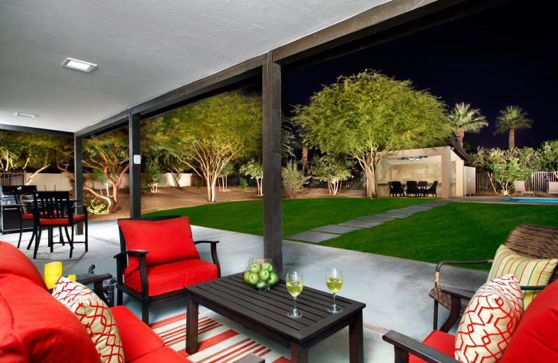 Rental patio at Arizona Vacation Rentals.
