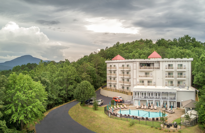 Exterior view of Valhalla Resort Hotel.