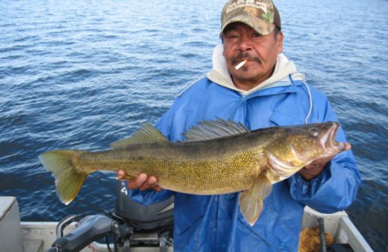 Walleye fishing at Sandy Beach Lodge.