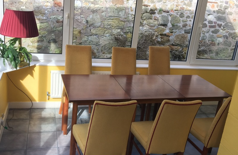 Dining at Aslar House.