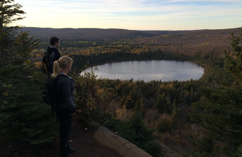 Hiking at The Mountain Inn at Lutsen.