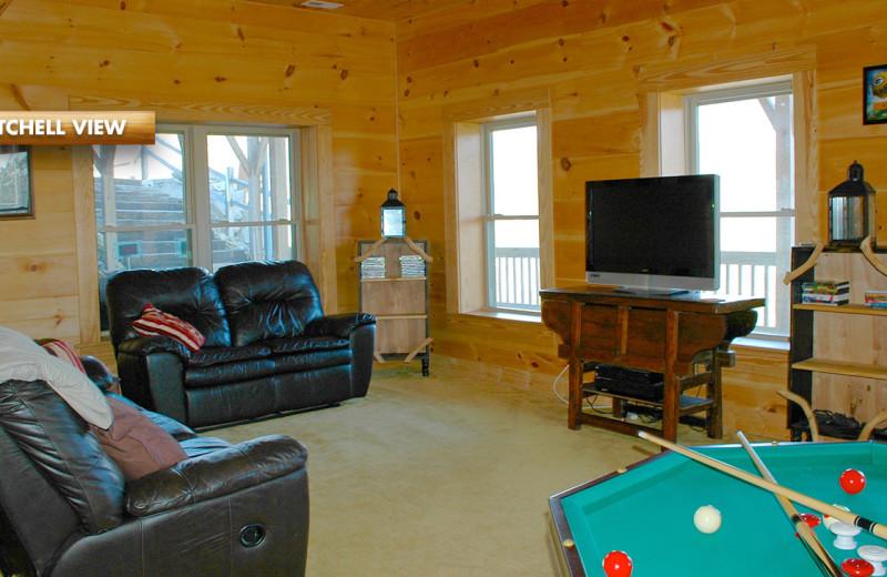 Rental living room at High Rock Rentals.