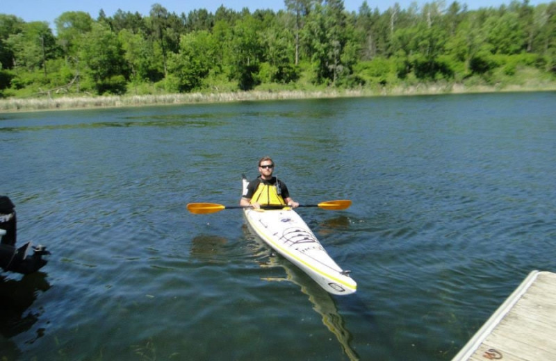 Kayaking at Becker's Resort & Campground.