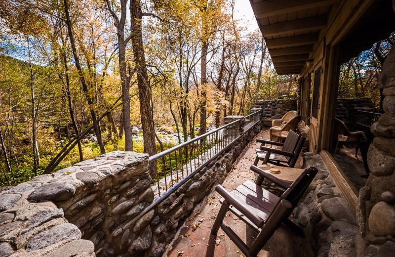 The private seating area of our Casa de Piedra  Cabin.