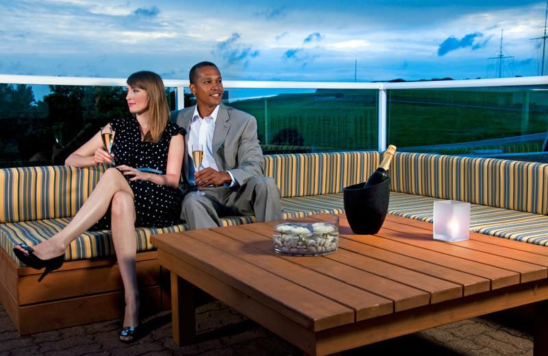 Couple at Cambridge Suites Hotel Halifax.