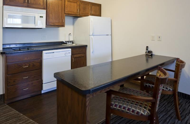 Guest kitchen at GrandStay Parkers Prairie