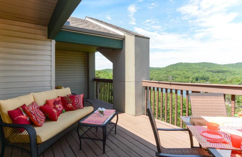 Rental deck at Branson Vacation Rentals.