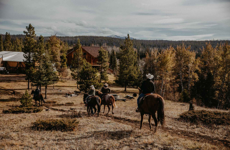 Horseback riding at Big Creek Lodge.