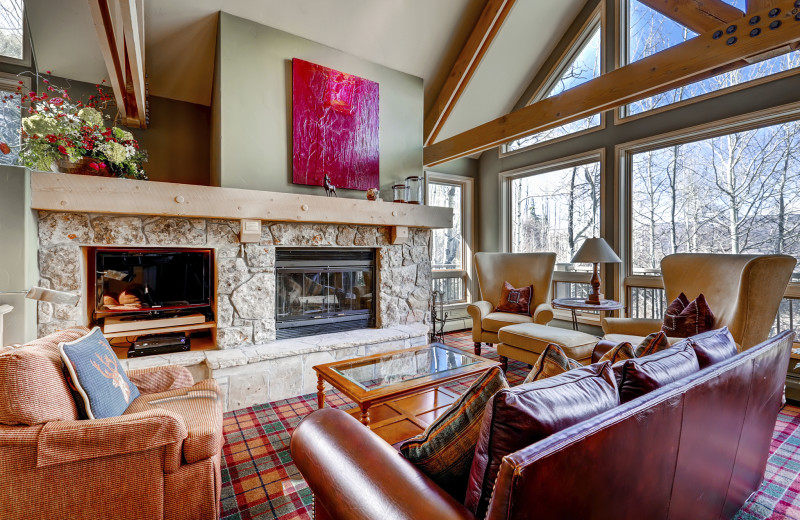 Guest living room at The Pines Lodge, A RockResort.