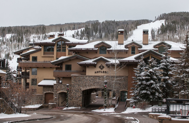 Winter exterior at Antlers at Vail.