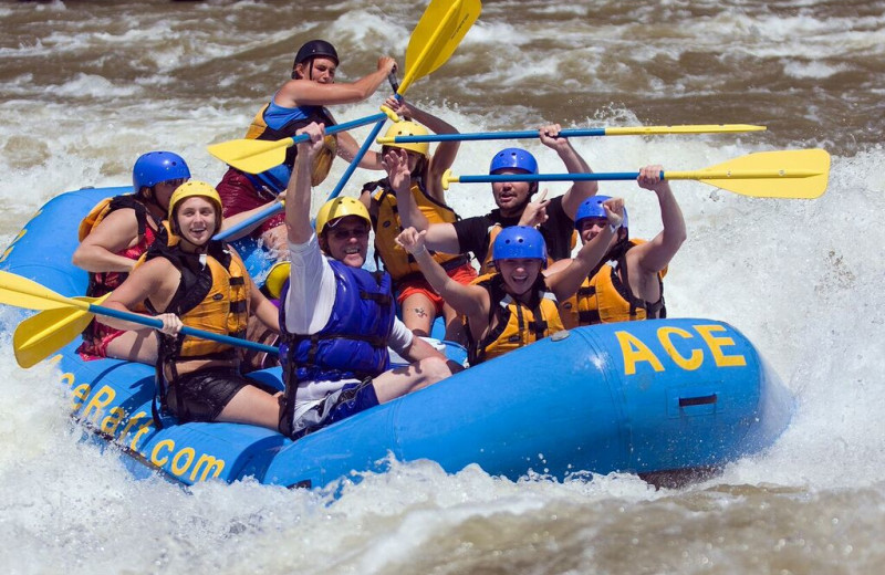 River rafting at ACE Adventure Resort.