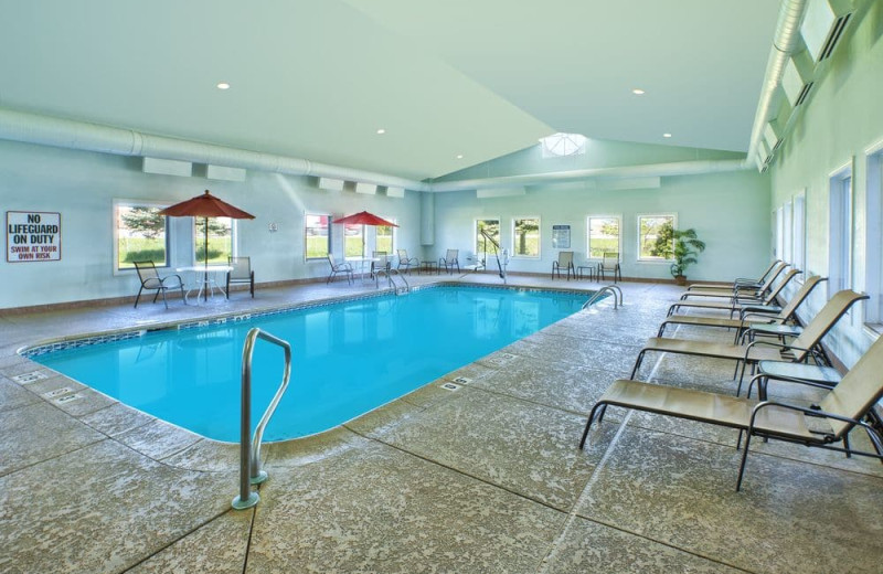 Indoor pool at Holiday Inn Express Hotel & Suites - Benton Harbor.