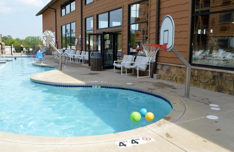 Outdoor pool at Timber Ridge Lodge & Waterpark.