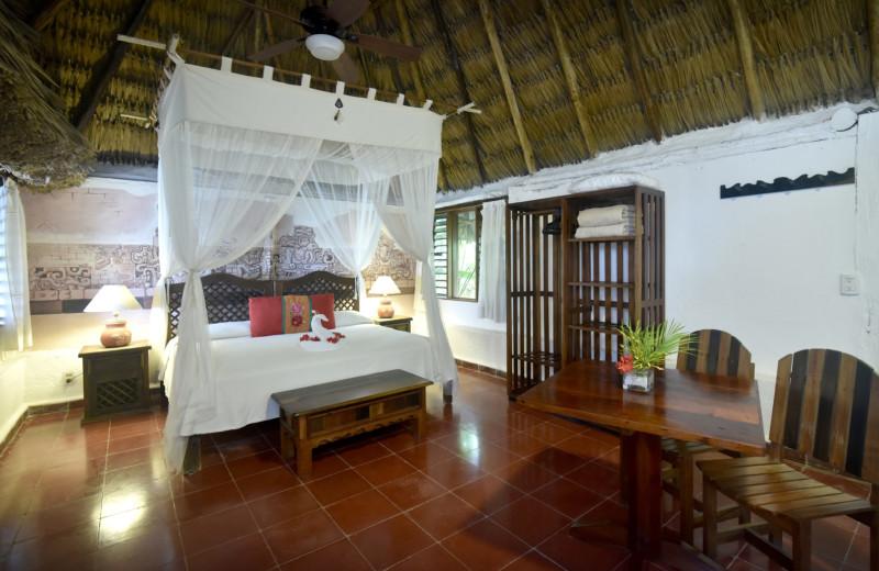 Guest room at Spa at Rancho Encantado.