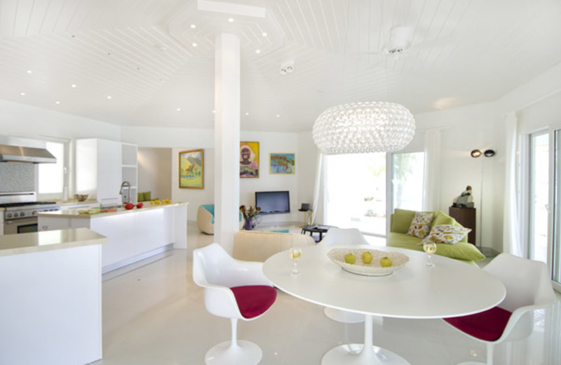 Villa interior at Island Properties Luxury Rentals.