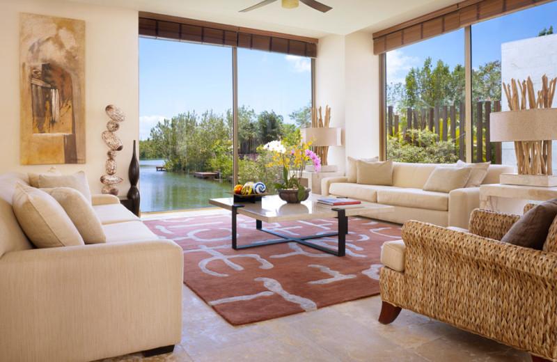 Guest suite at Rosewood Mayakoba.