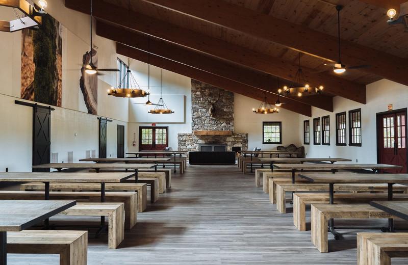 Lodge interior at Yogi Bear's Camp Golden Valley.