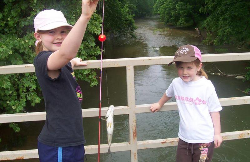 Fishing at Dawn Hill Community.