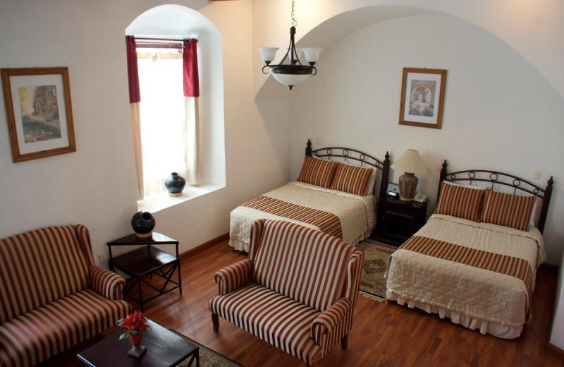 Guest room at Raintree's Casa San Felipe Hostal Oaxaca.