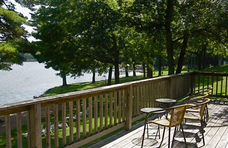 Deck view at Chanticleer Inn.
