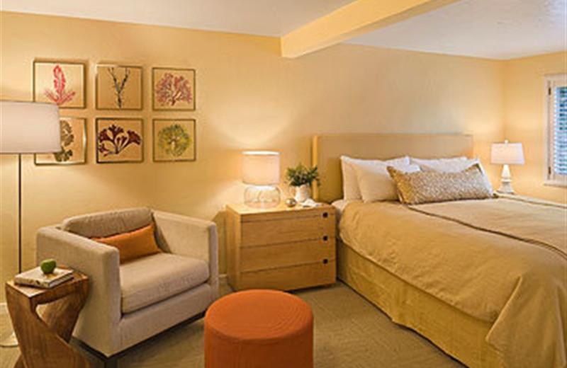Bedroom at Carmel Lodge.