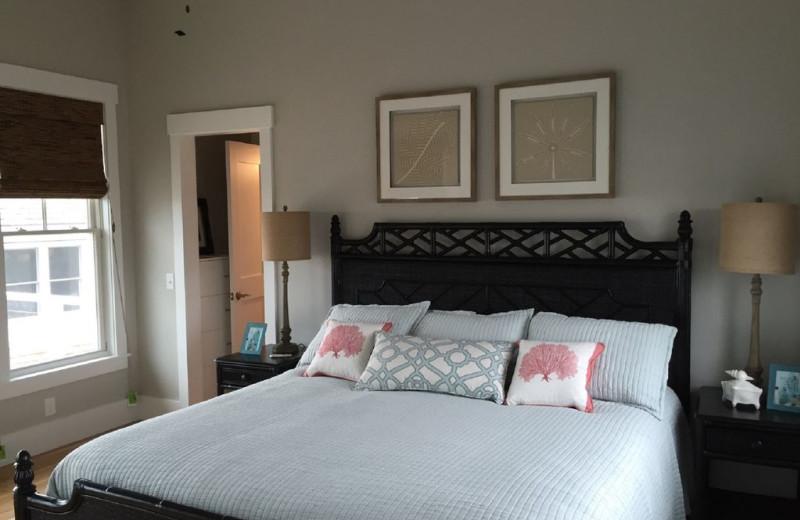 Rental bedroom at Mary Munroe Realty: Bald Head Vacations