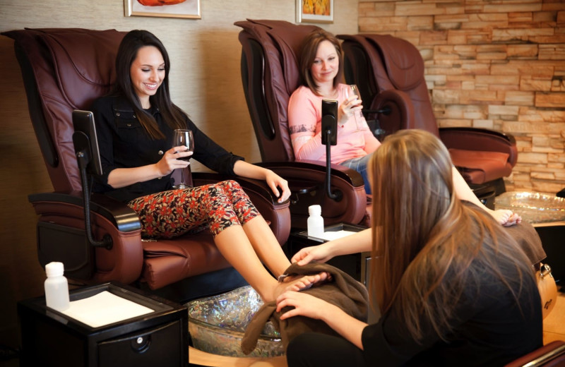 Spa pedicure at Oglebay Resort and Conference Center.