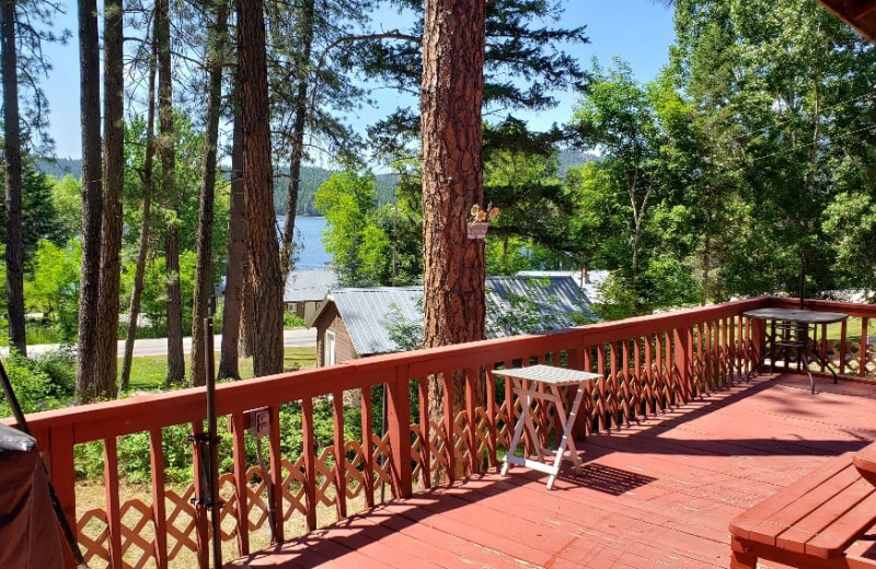 Cabin deck at Silver Beach Resort.