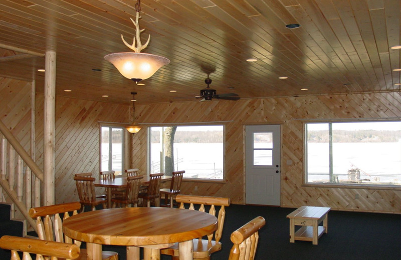 Cabin interior at Auger's Pine View Resort.