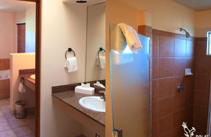 Suite bathroom at Inn at Eagle Mountain.