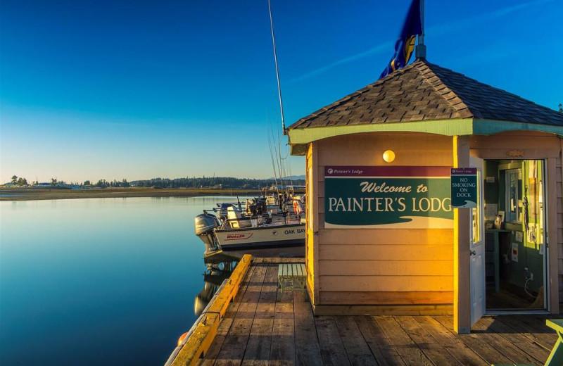 Fishing dock at Painter's Lodge.