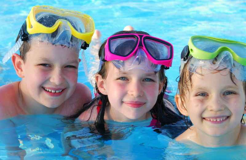 Swimming at Pelican Landing Resort & Campground.