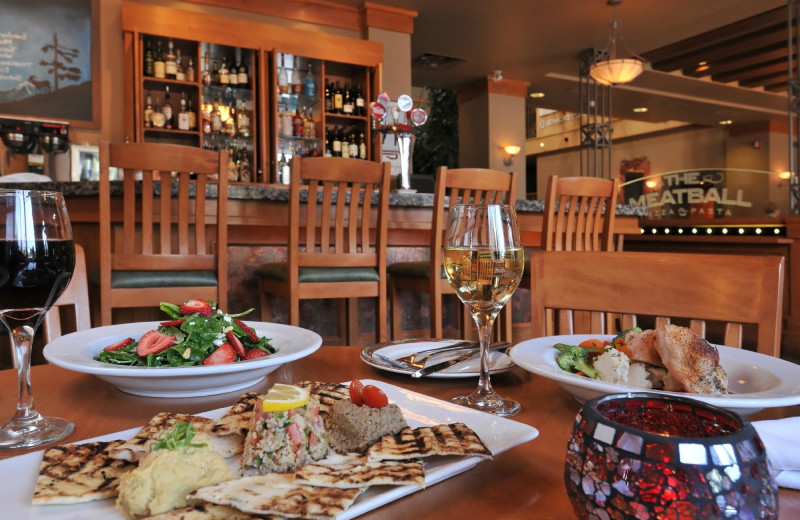 Dining at Banff Ptarmigan Inn.