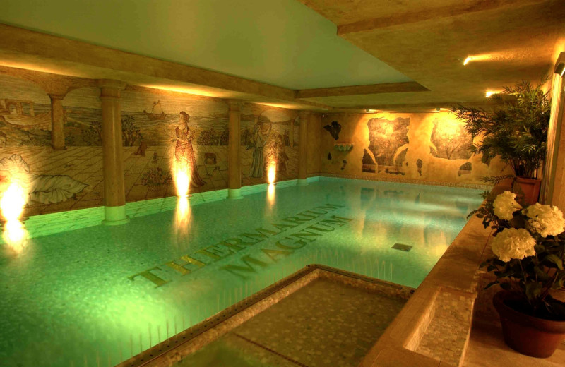 Indoor pool at Grand Hotel Duchi D'Aosta.