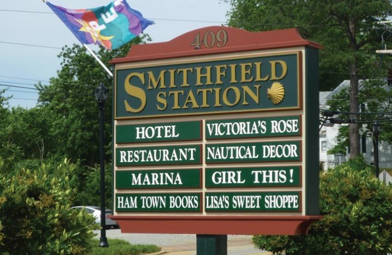 Shops at Smithfield Station.