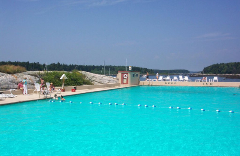 Outdoor pool at Sebasco Harbor Resort.